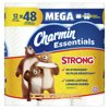 Charmin Essentials Strong Toilet Paper 12 Mega Rolls, 451 sheets per roll