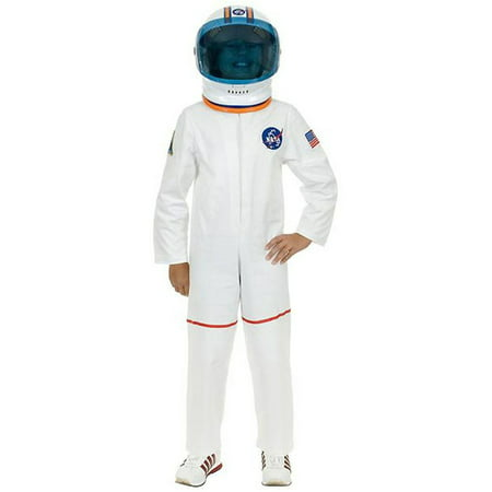Child's White Astronaut Girls NASA Boys Costume (Girls White Witch Costume)