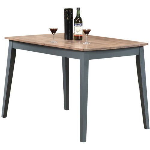 Margret Dining Table, Brown Oak and Blue