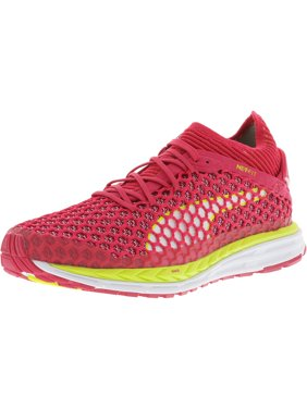 f3624c58953 Product Image Puma Women s Speed Ignite Netfit Sparkling Cosmo   Yellow  White Ankle-High Running Shoe -