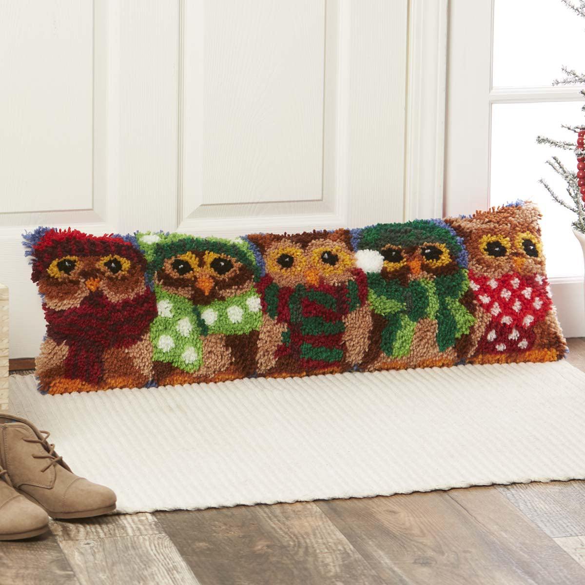 Herrschners® Winter Owls Draft Dodger Latch Hook Kit