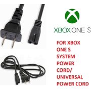 For Xbox One S 6FT PA-14 2 Slot Prong Power Cord Charging Cable Wall Plug