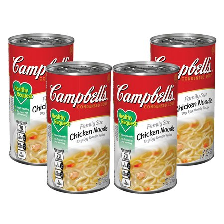 Fat Free Soup - (3 Pack) Campbell's Condensed Healthy Request Family Size Chicken Noodle Soup, 22.4 oz can
