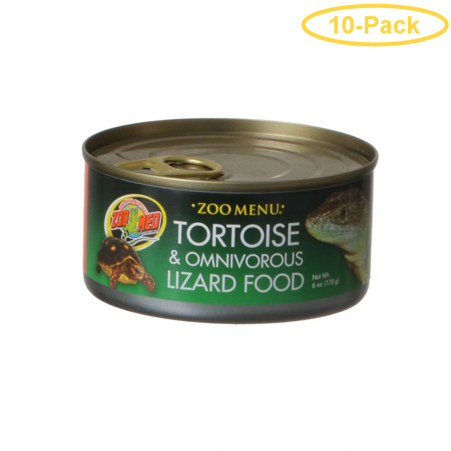 Zoo Med Land Tortoise & Omnivorous Lizard Food - Canned 6 oz - Pack of 10