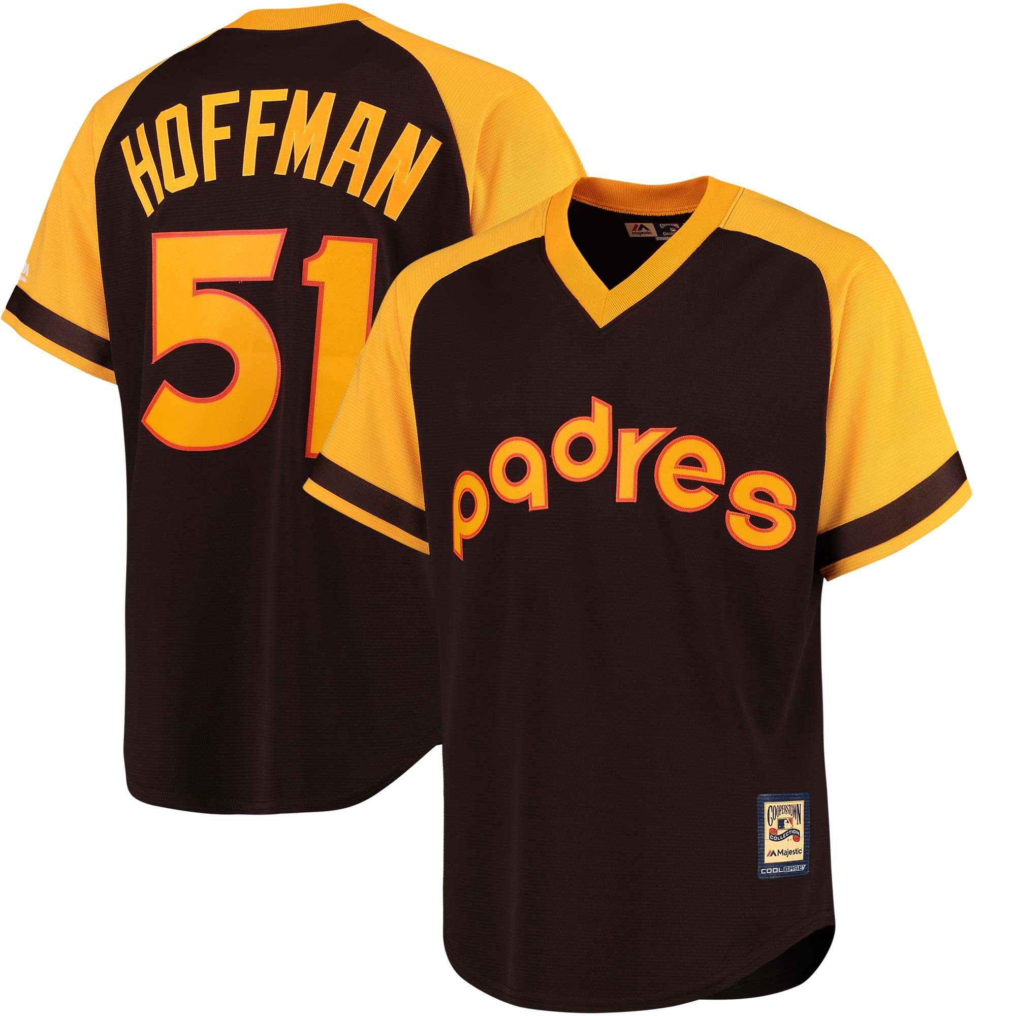 Trevor Hoffman San Diego Padres Majestic Cooperstown Collection Cool Base Player Jersey - Brown