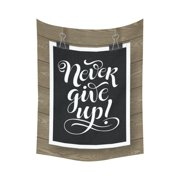 gckg never give up lettering on wood inspirational quotes tapestry wall hanging black and white letter