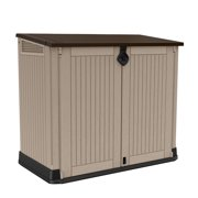 Keter Store-It-Out Midi 30-Cu Ft Resin Shed, All-Weather Plastic Outdoor Storage, Beige/Taupe