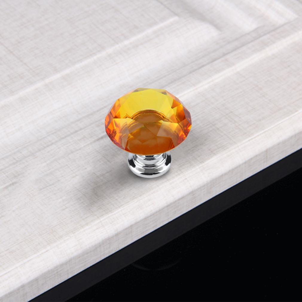 Crystal Cupboard Cabinet Dresser Drawer Wardrobe Door Knobs Pull Handle 30mm