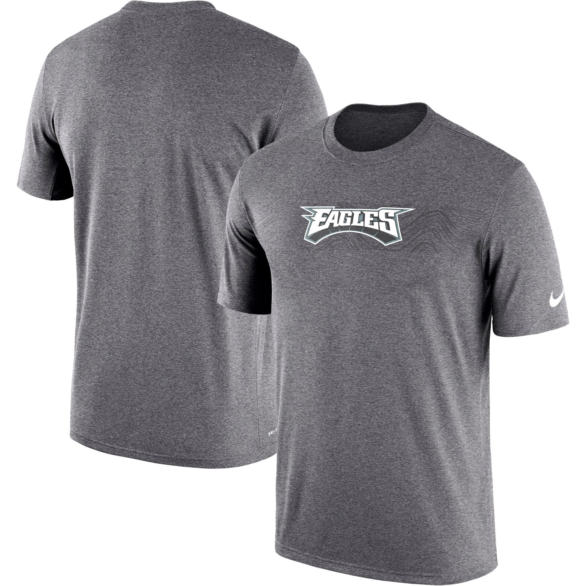 Philadelphia Eagles Nike Sideline Seismic Legend Performance T-Shirt - Heathered Charcoal