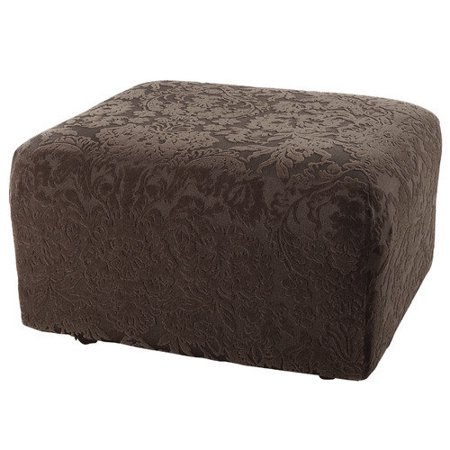 Sure Fit Stretch Jacquard Damask Ottoman