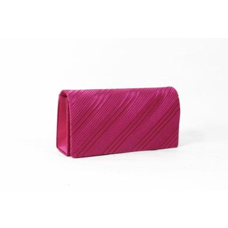 Pleated Handbag Purse (Women's Fashion Pleated Satin Structured Clutch Purse Bag)