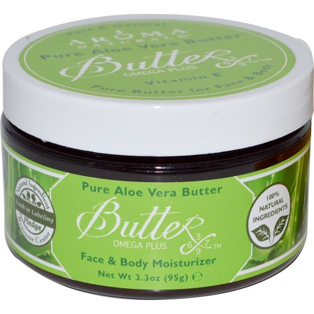 (Aroma Naturals, Pure Aloe Vera Butter, Face & Body Moisturizer, 3.3 oz (95 g))