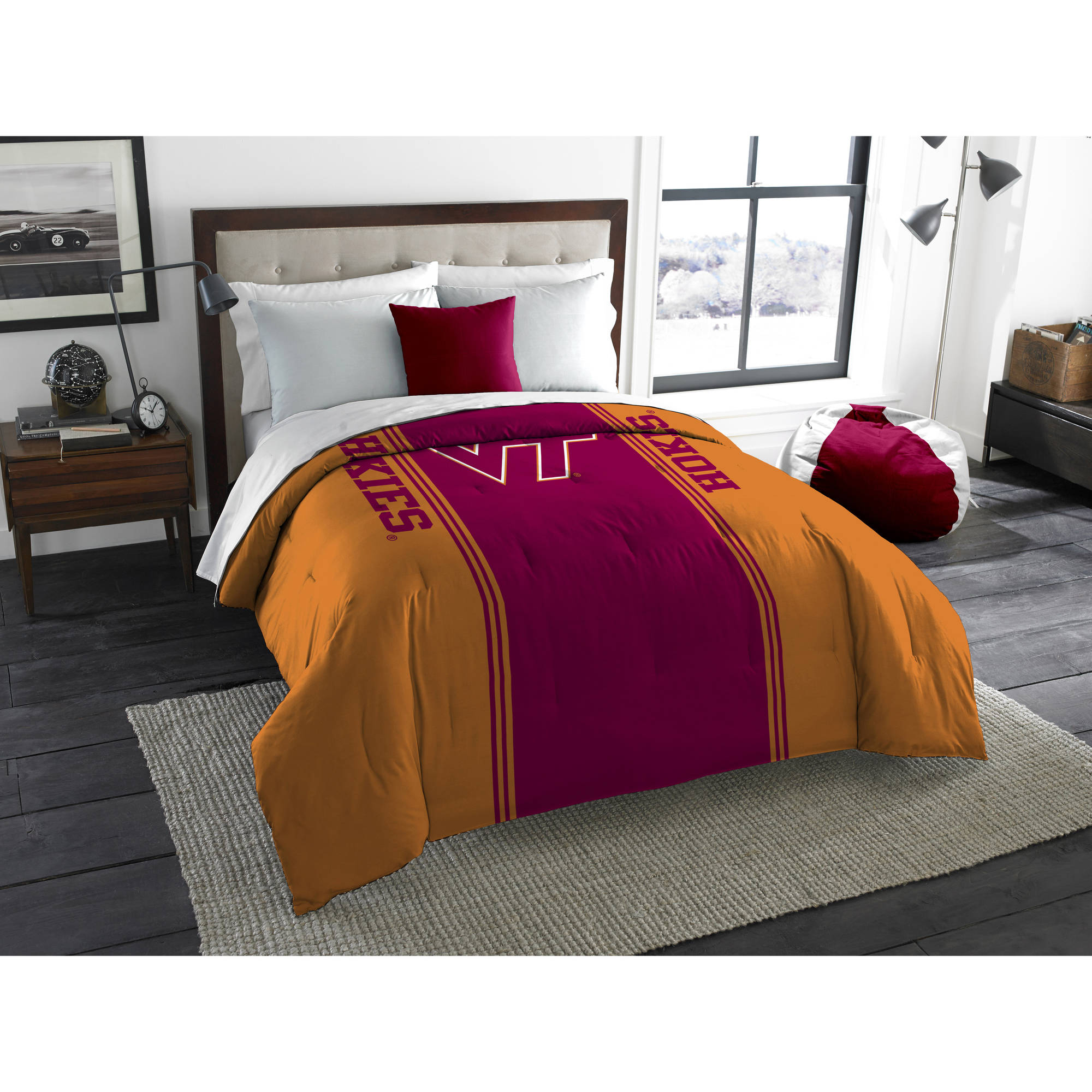 "NCAA Virginia Tech Hokies ""Mascot"" Twin/Full Bedding Comforter"