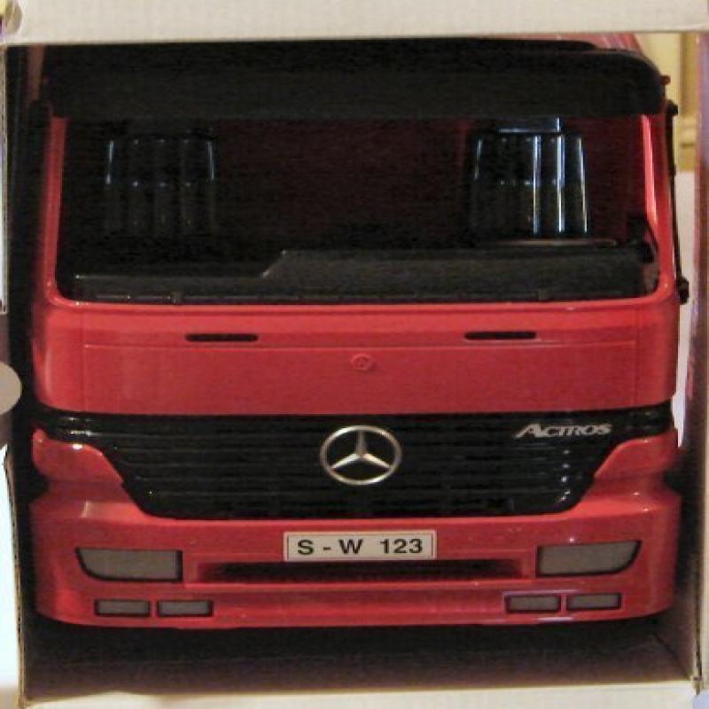 Bruder Mercedes Benz Actros Dump Truck Cab with 912 Liebherr Backhoe Excavator by