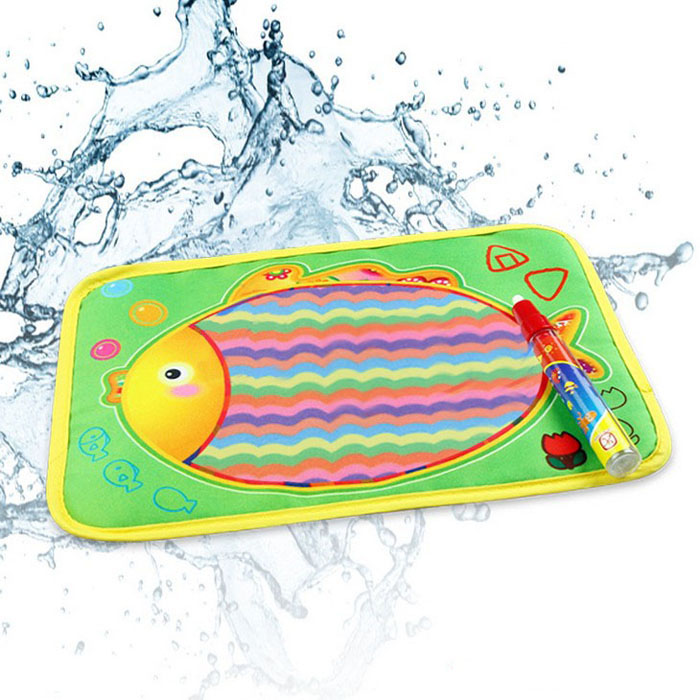 New amusing Water Drawing Painting Writing Mat Board & Magic Pen Doodle Toy Gift