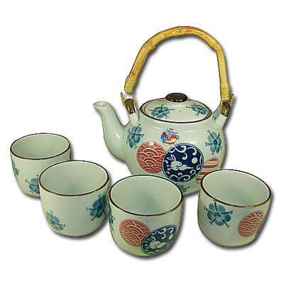 5 Pc Japanese Plum Tree Tea Set