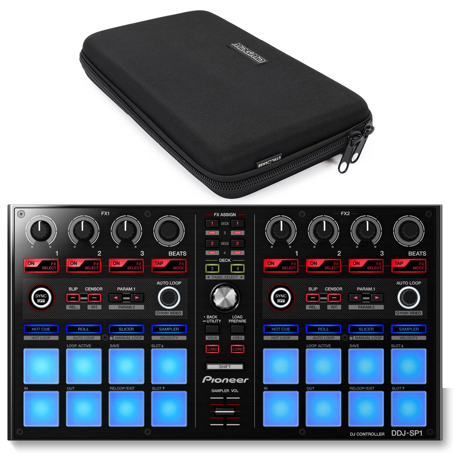 Pioneer DDJ-SP1 DJ Add-on Sub-Controller & Magma MGA47979...