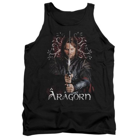 The Lord of The Rings Movie Aragorn Stare with Sword Adult Tank Top Shirt