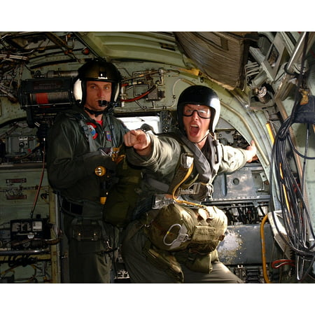 - LAMINATED POSTER Soldiers Jump Parachute Fighter Aircraft Aircraft Poster Print 24 x 36