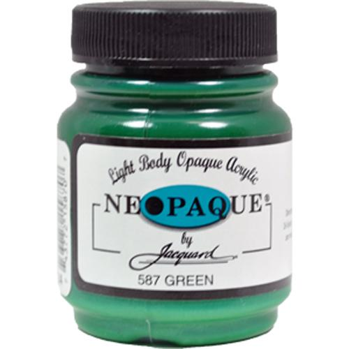 Jacquard Neopaque Color #587 GREEN Screen Stenciling Stamping Ink Paint 2.25oz