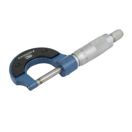(0mm-25mm Range 0.01mm Gauge External Metric Micrometer Mechanist Caliper Tool)