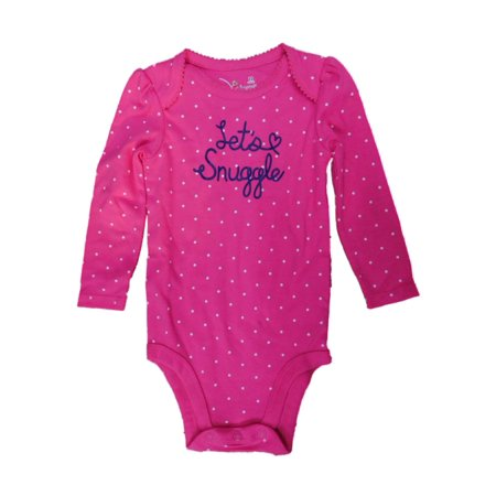 Jumping Beans Infant Girls Pink Polka Dot Lets Snuggle Long Sleeve