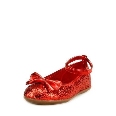 - The Doll Maker Metallic Glitter Strap Flat Shoes - TD1511115E-8