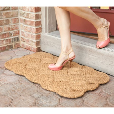 Entryways Knot-Ical Hand Woven Coconut Fiber Door Mat