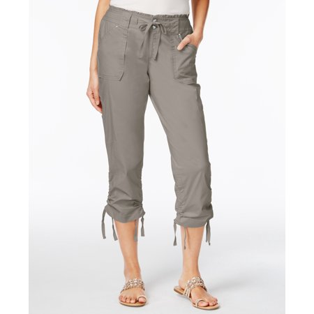 - INC $60 NEW 11317 Curvy-Fit Cropped Cargo Womens Pants 0