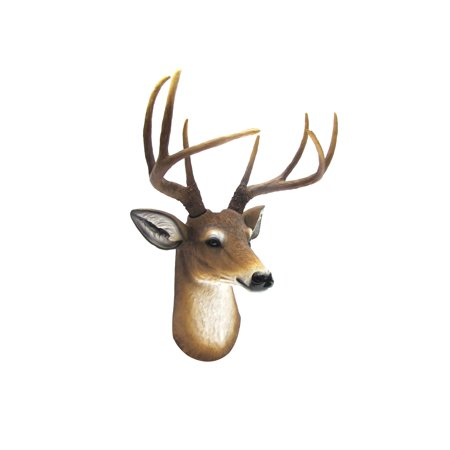 - Wall Mount Deer Head 8 Point Buck Bust Man Cave/Cabin/Lodge Decor Fake Taxidermy