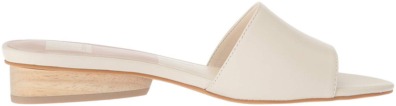 Dolce Vita Women's Adalea Slide Sandal, Ivory Leather, Size 9.5
