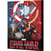 Pyramid America Captain America: Civil War Split Screen Canvas Wall D cor