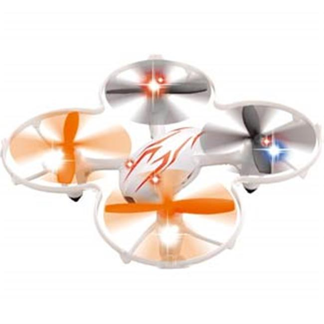 Microgear EC10383-White 2.4 GHZ Radio Controlled RC Quadcopter 4 Axis