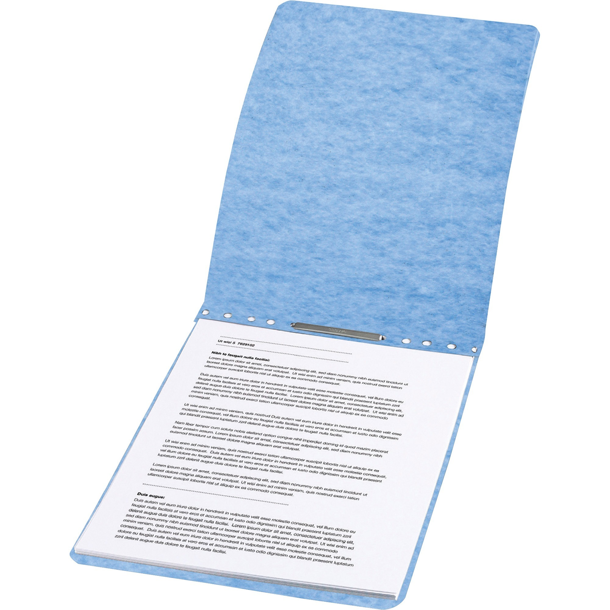 """ACCO Presstex Report Cover, Prong Clip, Letter, 2"""" Capacity, Light Blue by ACCO Brands Corporation"""