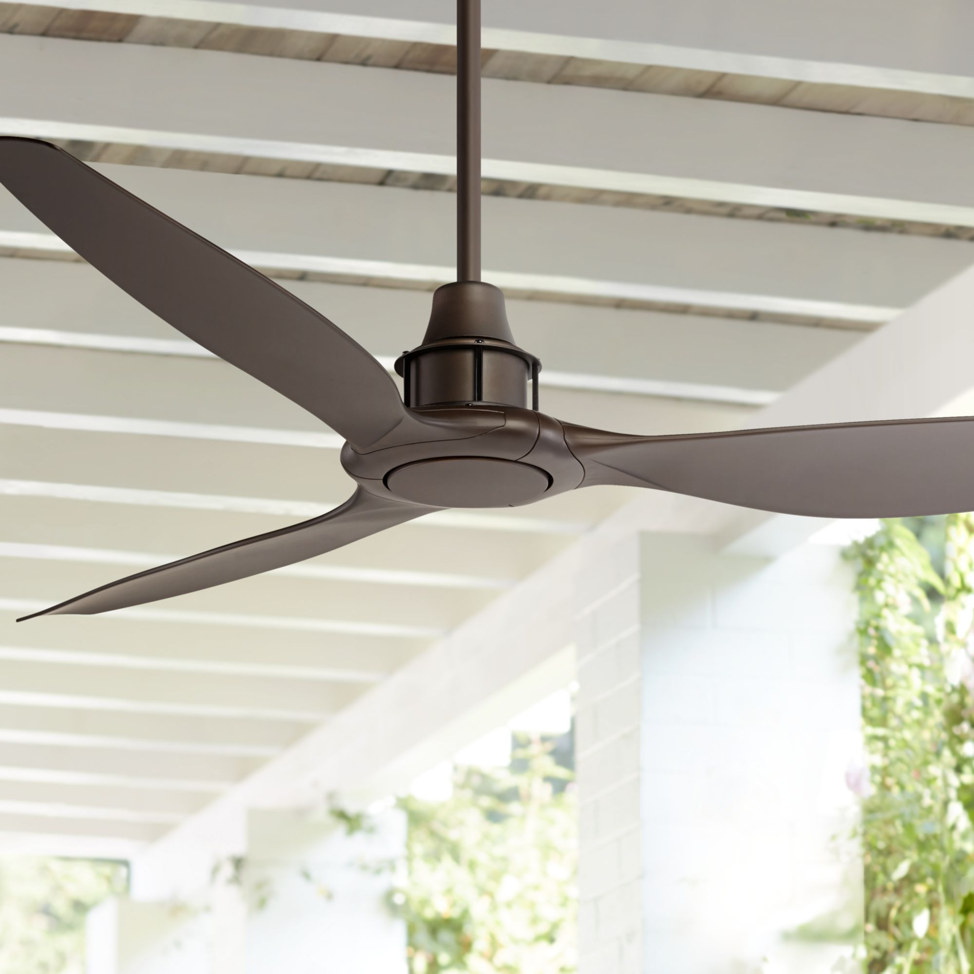 """58"""" Casa Vieja Modern Outdoor Ceiling Fan with Remote Oil Rubbed Bronze Brown Damp Rated for Patio Porch"""