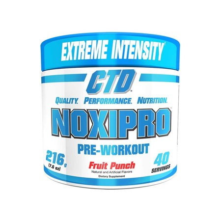(CTD Sports Noxipro Extreme Energy and Mental Focus Pre-Workout 40 Servings Fruit Punch Flavor)
