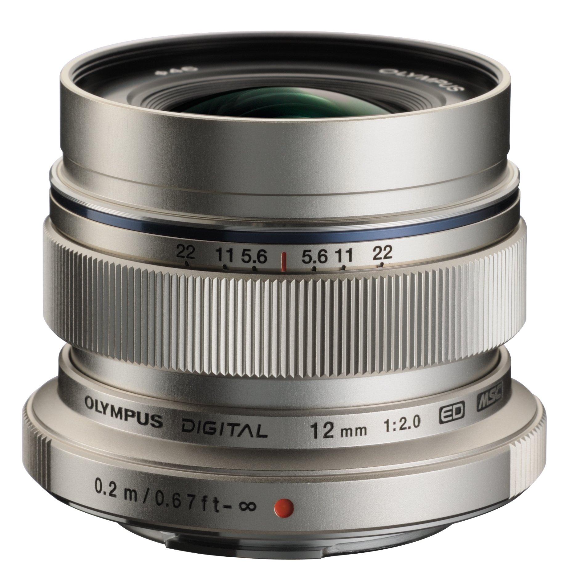 "Olympus M.zuiko Digital V311020su000 - 12 Mm - F/2 - Wide Angle Lens For Micro Four Thirds - 46 Mm Attachment - 0.08x Magnification - 1.7""diameter (v311020su000)"