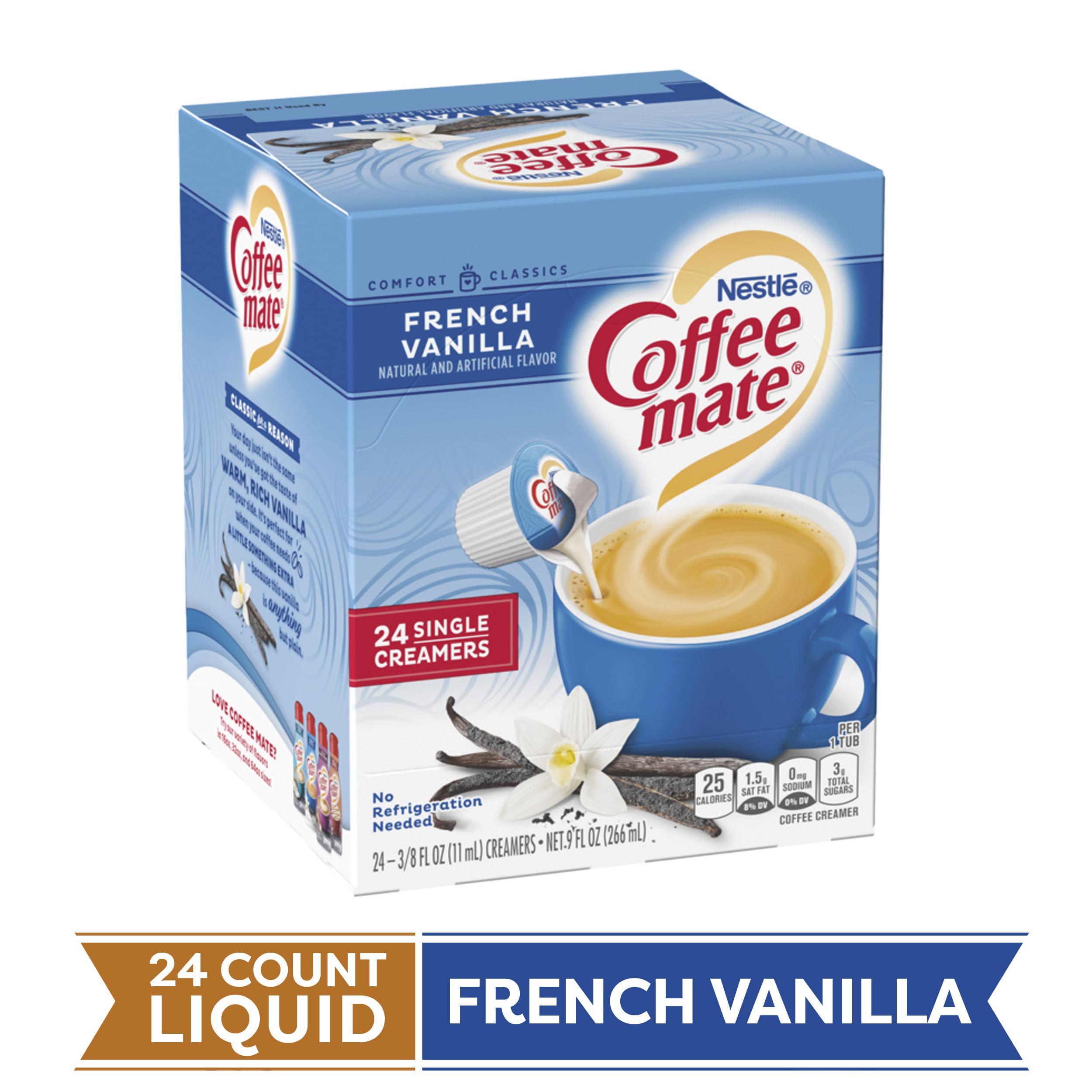COFFEE MATE French Vanilla Liquid Coffee Creamer 24 Ct. Box Non-dairy Lactose Free Creamer