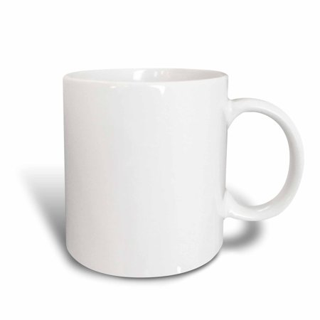 3dRose Pure white - bright colorless plain simple one single solid white color, Ceramic Mug, 15-ounce