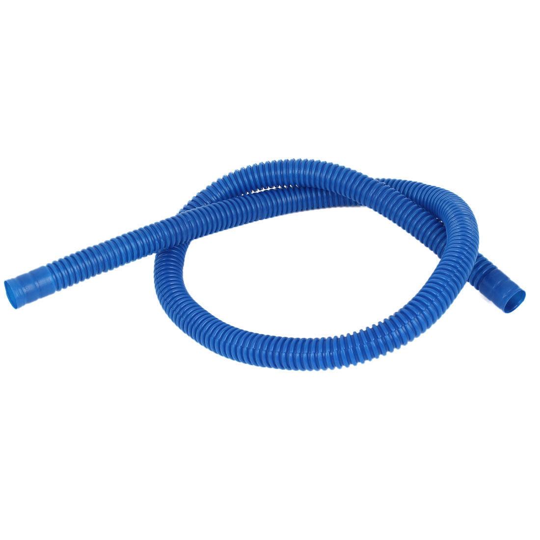 "Unique Bargains Blue Flexible Washing Machine Washer Drain Hose 85cm 47"" Length"