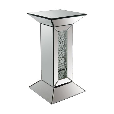 Acme Furniture Nysa Pedestal Stand, Mirrored