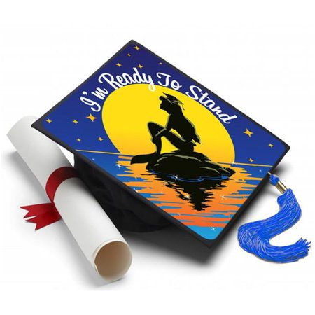 Graduation Cap Decoration Kit (Little Mermaid Grad Cap Tassel Topper - Graduation Cap Decorations, Grad Cap Decorating)