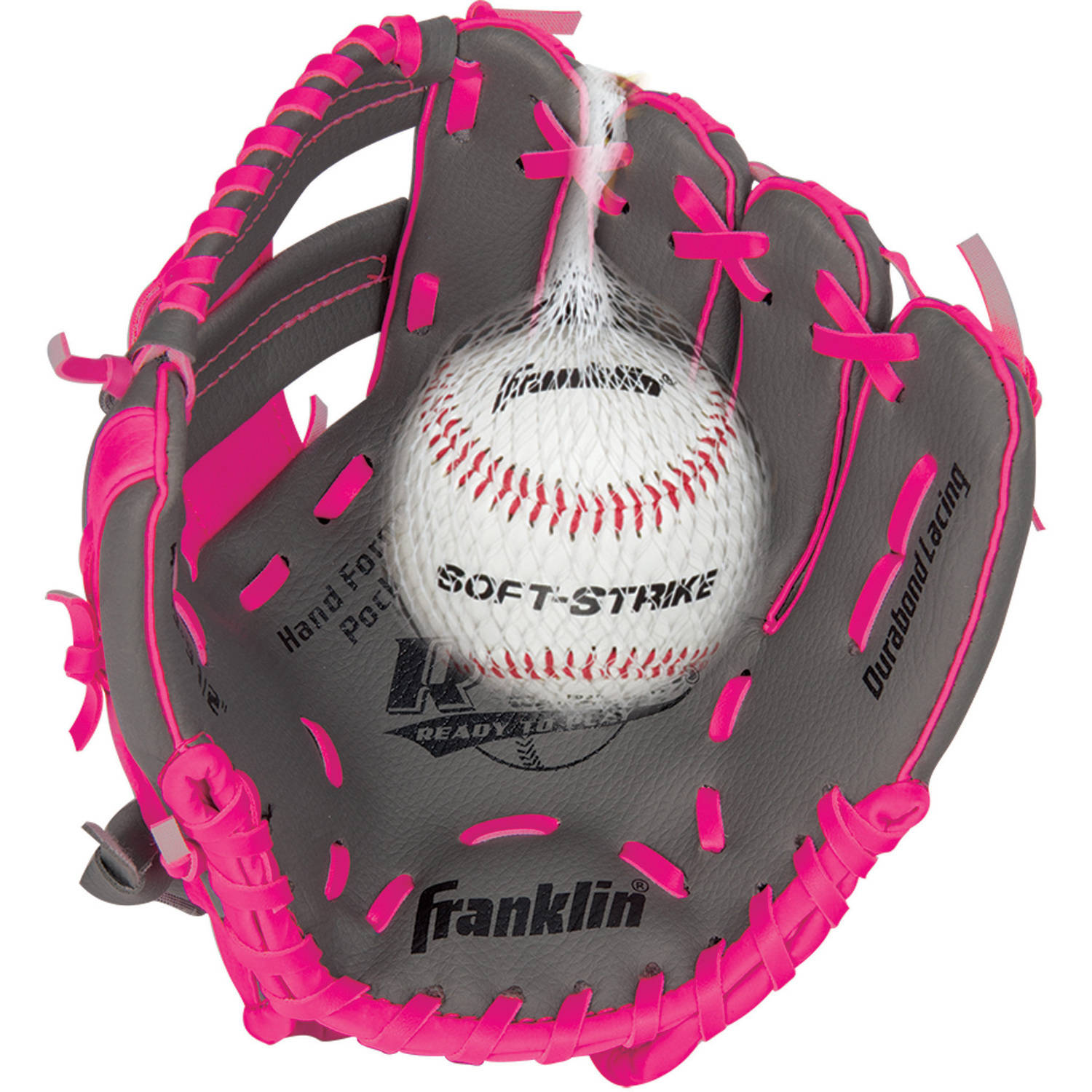 "Franklin Sports 9.5"" RTP Teeball Performance Glove and Ball Combo, Right Handed Thrower"