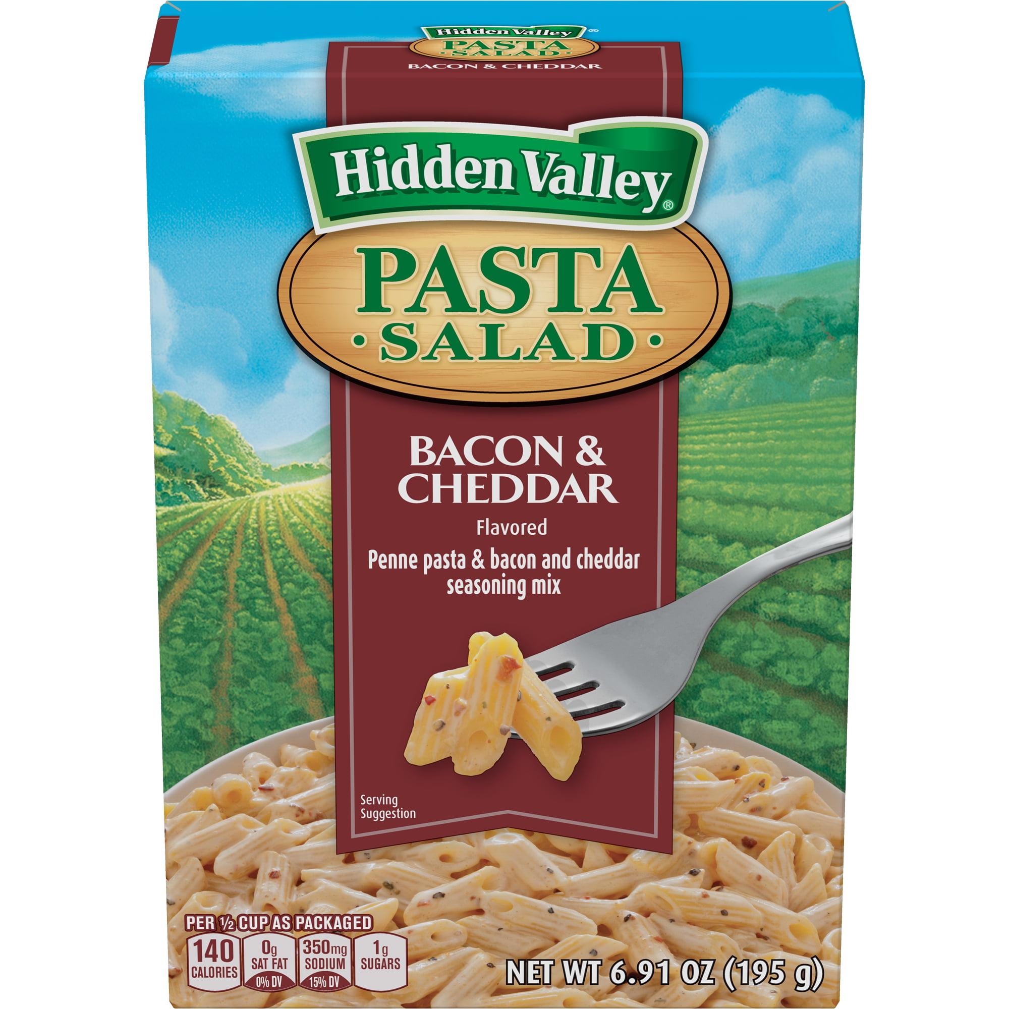 Hidden Valley Pasta Salad, Bacon and Cheddar, 6.91 Ounces