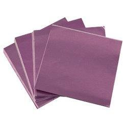 "6 X 6"" Lavender Foil Candy Wrappers"