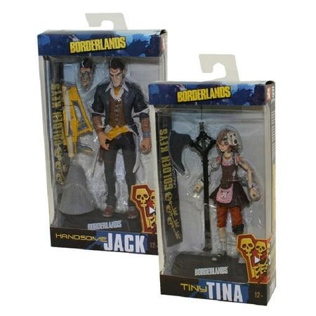McFarlane Toys Action Figures - Borderlands - SET OF 2 (Handsome Jack & Tiny Tina)