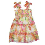 Nannette Infant & Toddler Girls Floral Chiffon Smocked Dress Sleeveless Sundress