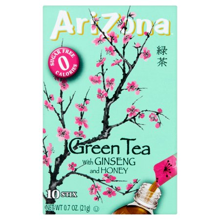 (12 Pack) Arizona Drink Mix, Green Tea with Ginseng and Honey, .7 Oz, 10 Sticks, 1 Count for $<!---->