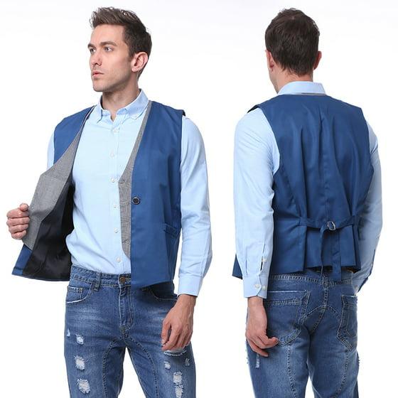 Hemiks Mens Formal Business Vest For Suit Or Tuxedo V Neck
