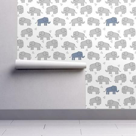 Peel-and-Stick Removable Wallpaper Elephant Elephant Elephants Baby Boy Boy